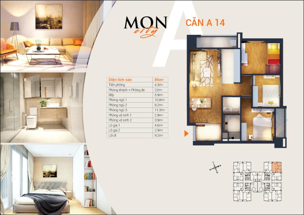 Căn A-14 chung cư HD Mon City