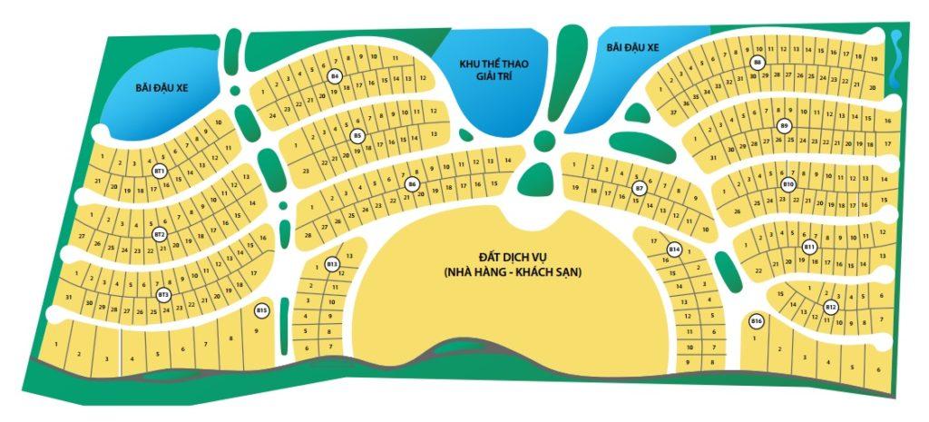 Sơ Đồ Phân Lô Dự án Biệt thự Oceanami Resort