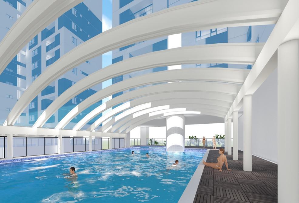 bể bơi chung cư phú mỹ complex