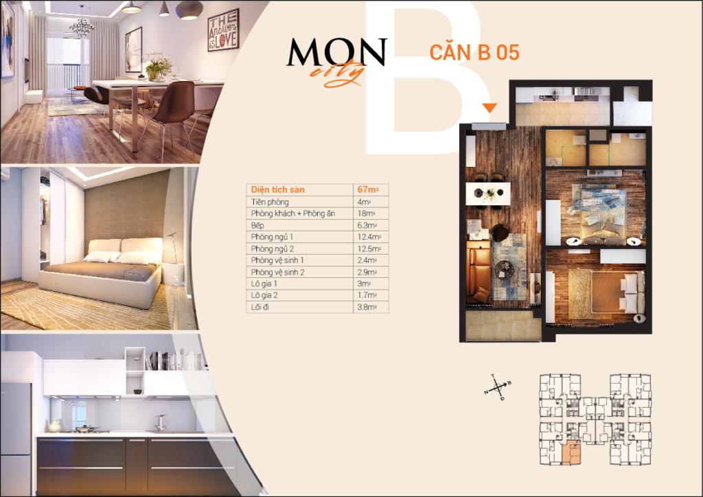 căn B-05 chung cư HD Mon City