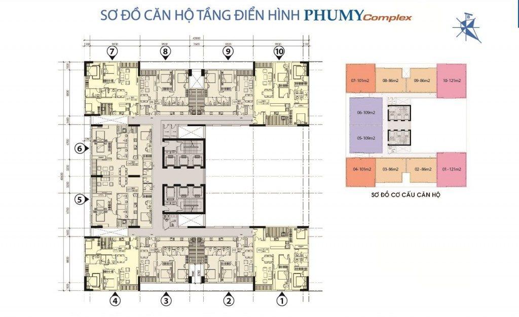 mặt bằng chung cư phú mỹ complex 1