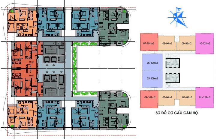 mặt bằng chung cư phú mỹ complex 2