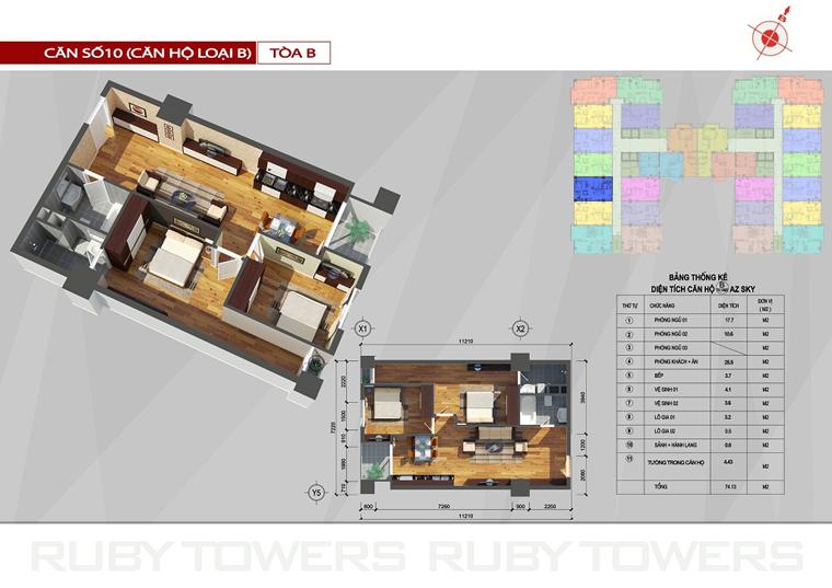 Chung cư Ruby Tower căn số 5A-10B