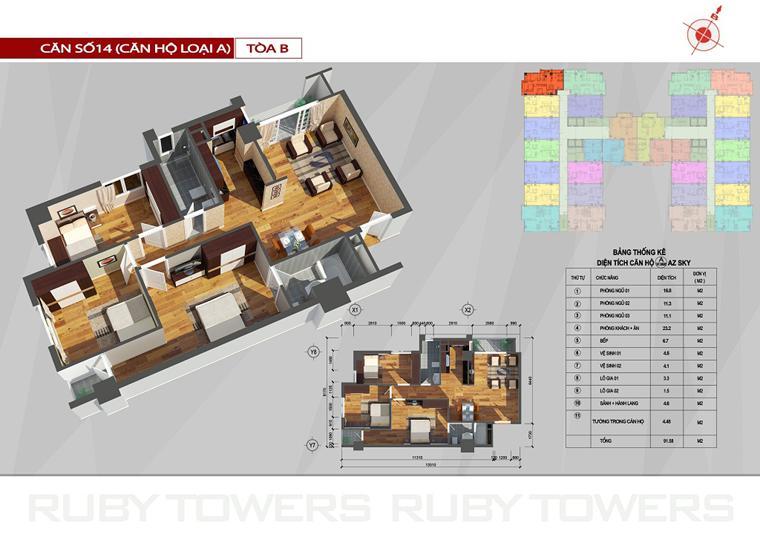 Chung cư Ruby Tower căn số 14A-1B