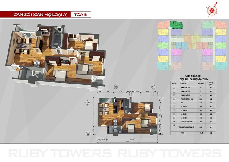Chung cư Ruby Tower căn số 1A-14B