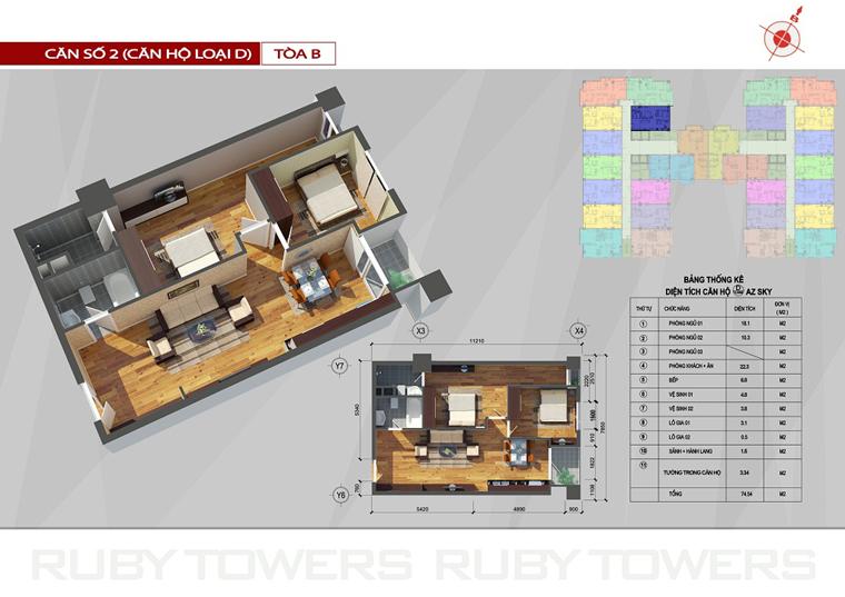 Chung cư Ruby Tower căn số 13A-2B