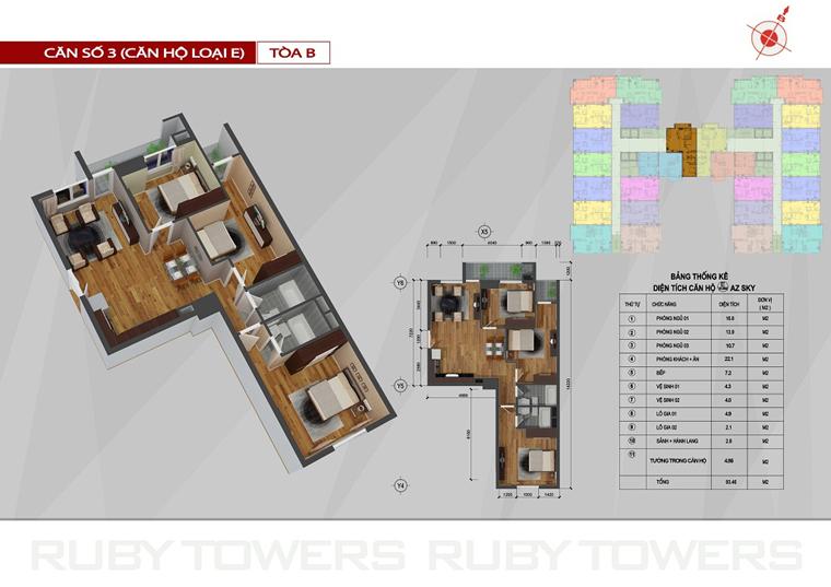 Chung cư Ruby Tower căn số 12A-3B