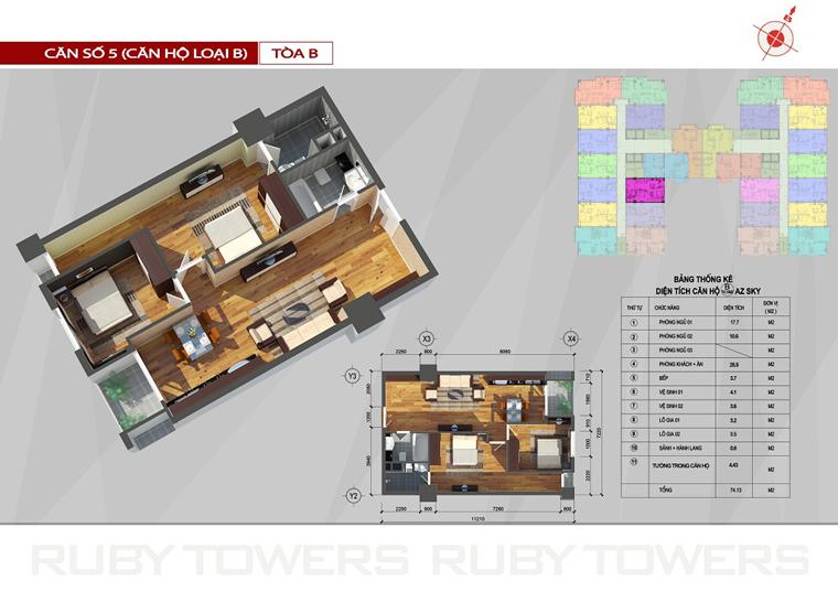 Chung cư Ruby Tower căn số 10A-5B