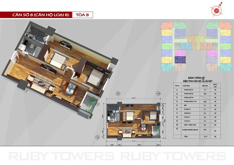 Chung cư Ruby Tower căn số 7A-8B