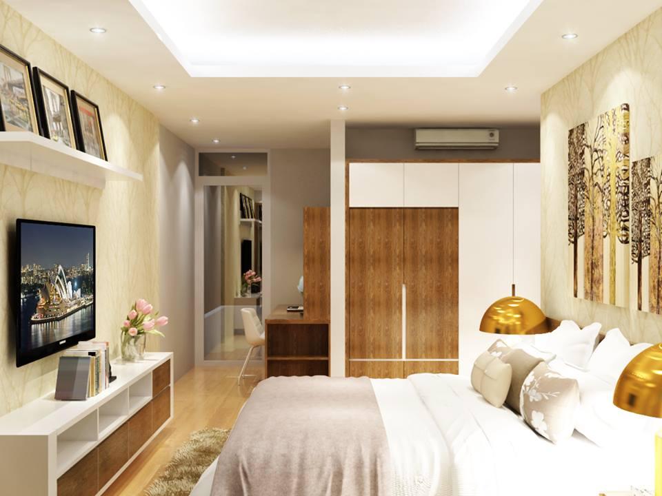 phòng ngủ chung cư e4 vũ phạm hàm