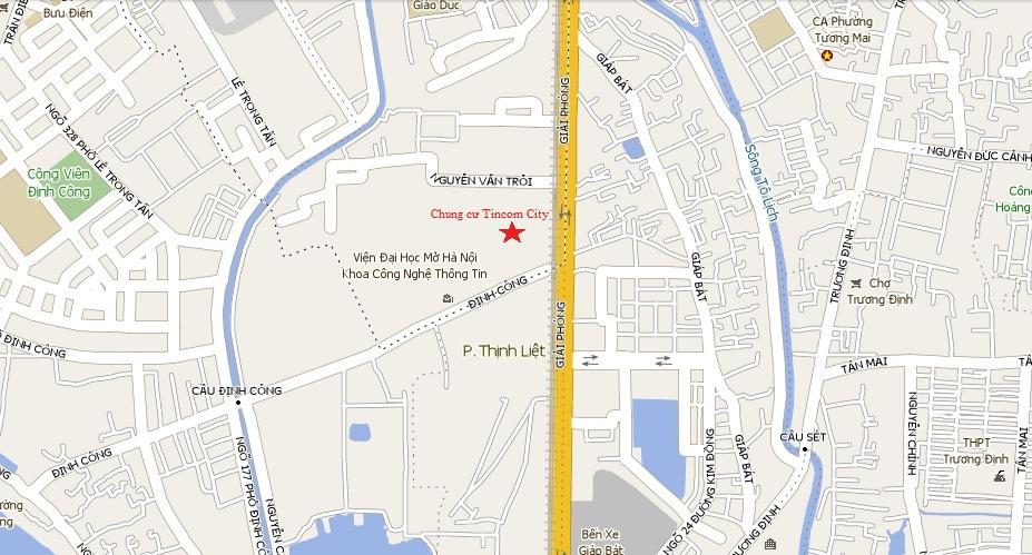 Vị trí chung cư Tincom City 360 Giải Phóng