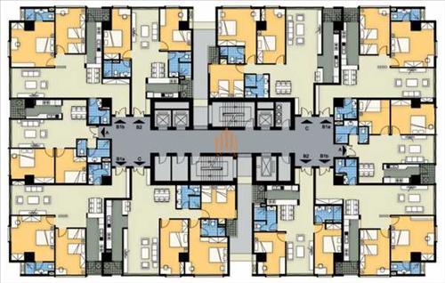 Mặt bằng tòa A chung cư 360 Giải Phóng