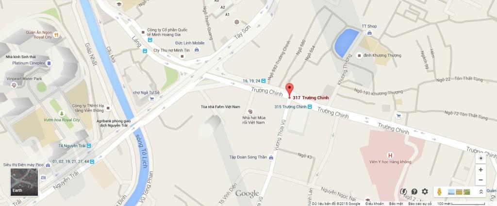vị trí chung cư 317 trường chinh bid tower