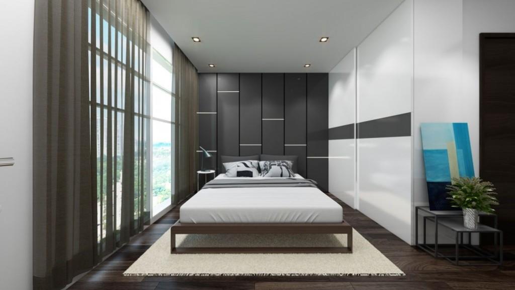 Phòng ngủnhỏ chung cư 282 nguyễn huy tưởng