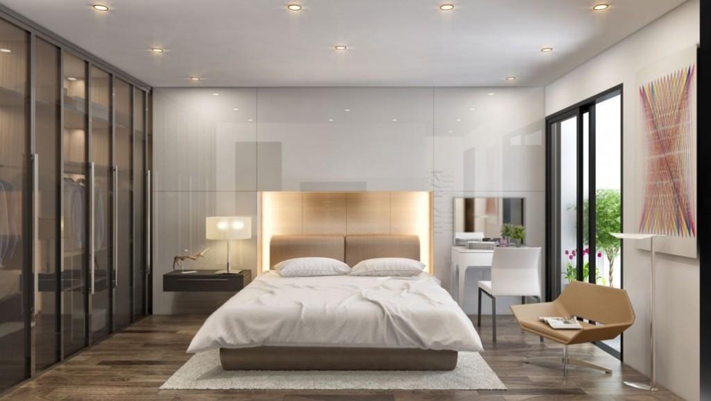 Phòng ngủ lớn chung cư 282 nguyễn huy tưởng