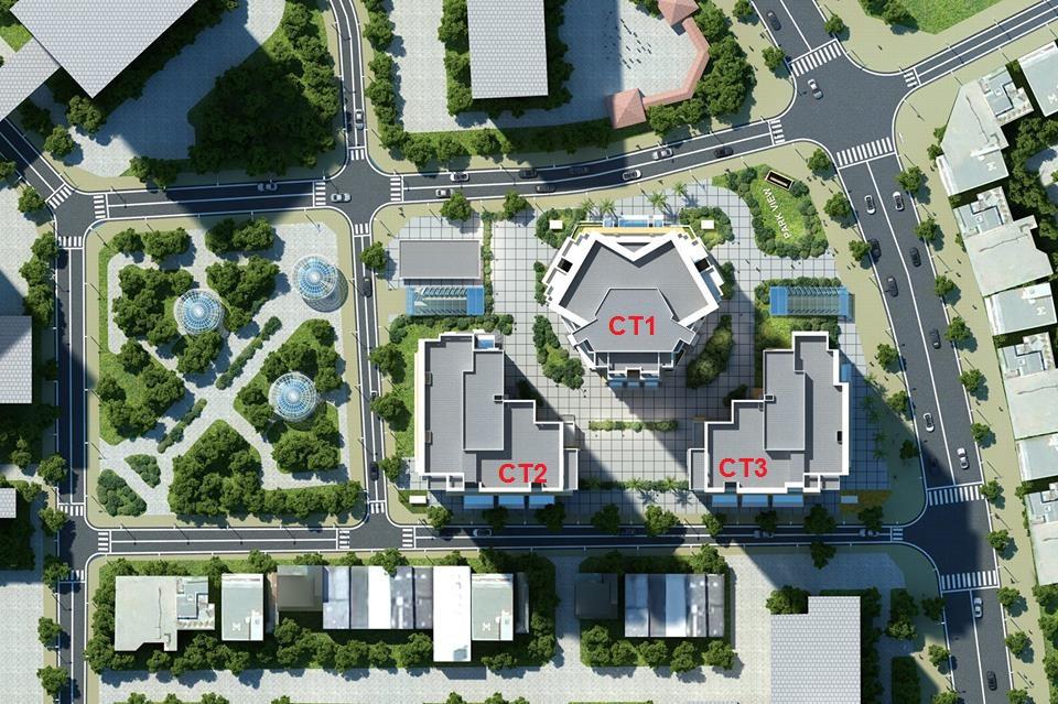 Tổng thể dự án chung cư E4 Yên Hòa
