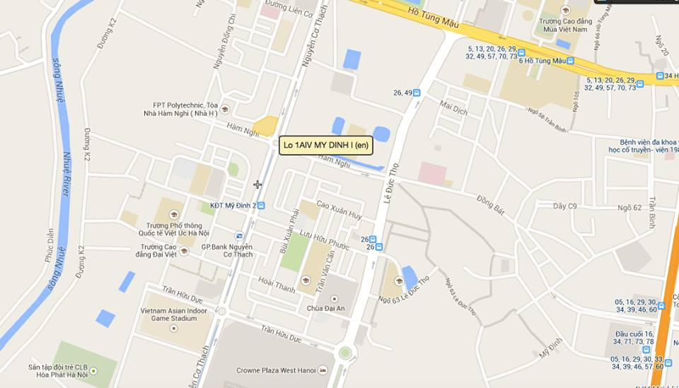 Vị trí chung cư MBLand Central Point Mỹ Đình Home 3