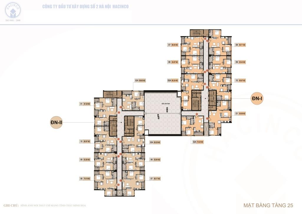 mặt bằng chung cư hà nội center point tầng 25