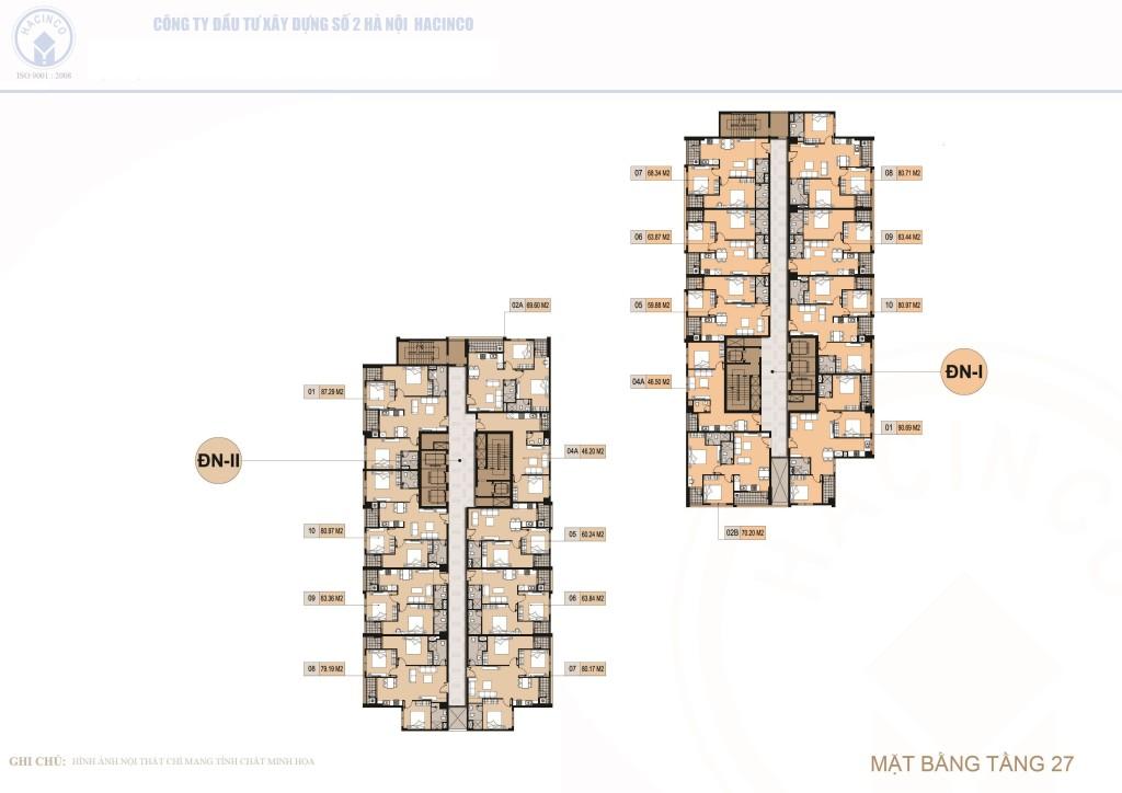 mặt bằng chung cư hà nội center point tầng 27