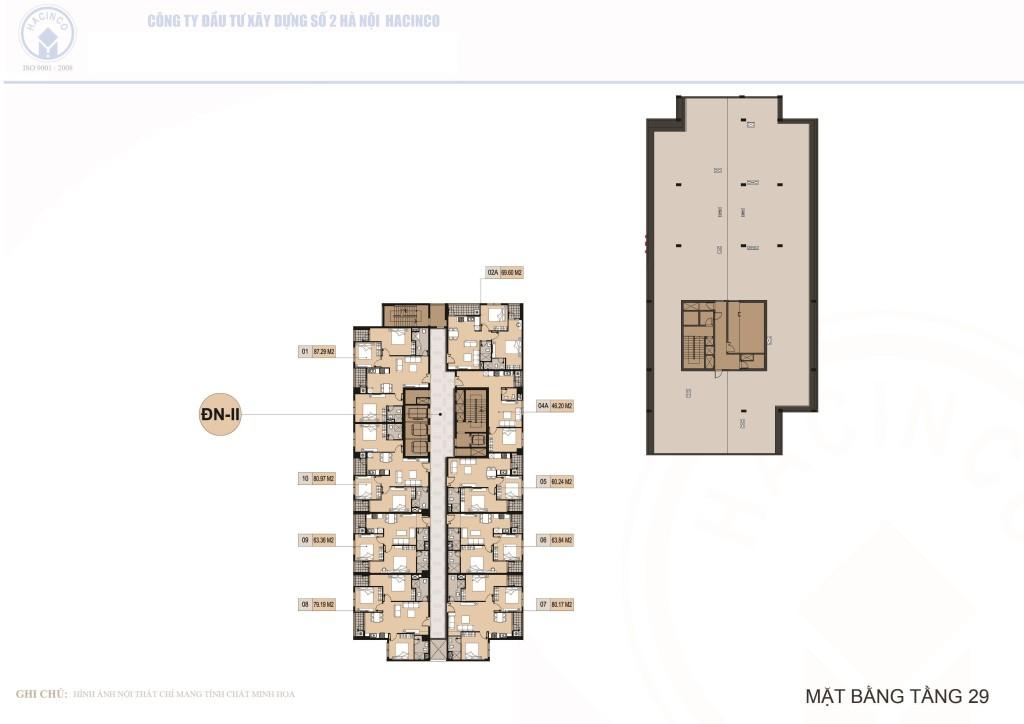 mặt bằng chung cư hà nội center point tầng 29