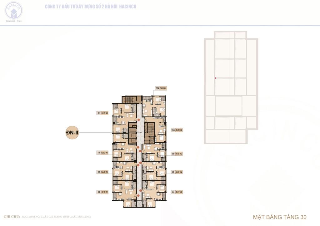 mặt bằng chung cư hà nội center point tầng 30