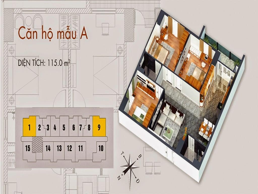 Tòa T02 căn 115m2 chung cư cho thuê C37 Bộ Công An Bắc Hà Tower