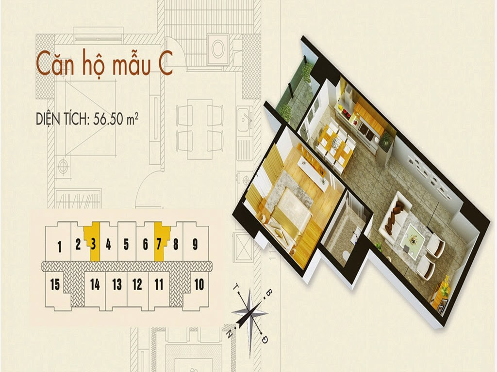 Tòa T02 căn 56m2 chung cư cho thuê C37 Bộ Công An Bắc Hà Tower