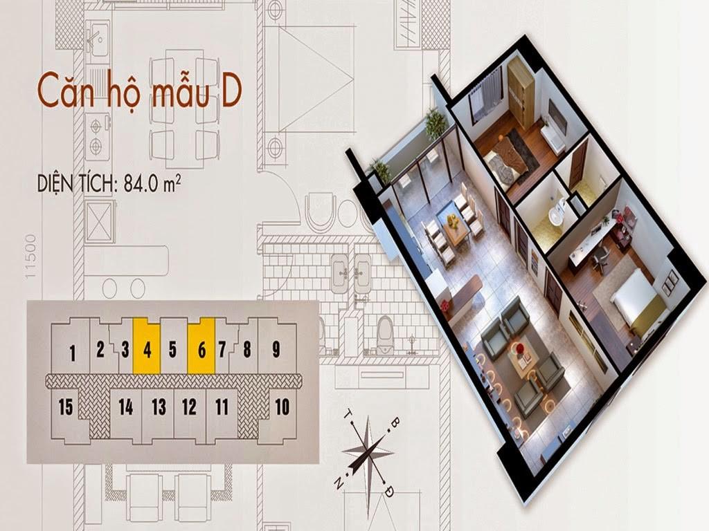 Tòa T02 căn 84m2 chung cư cho thuê C37 Bộ Công An Bắc Hà Tower