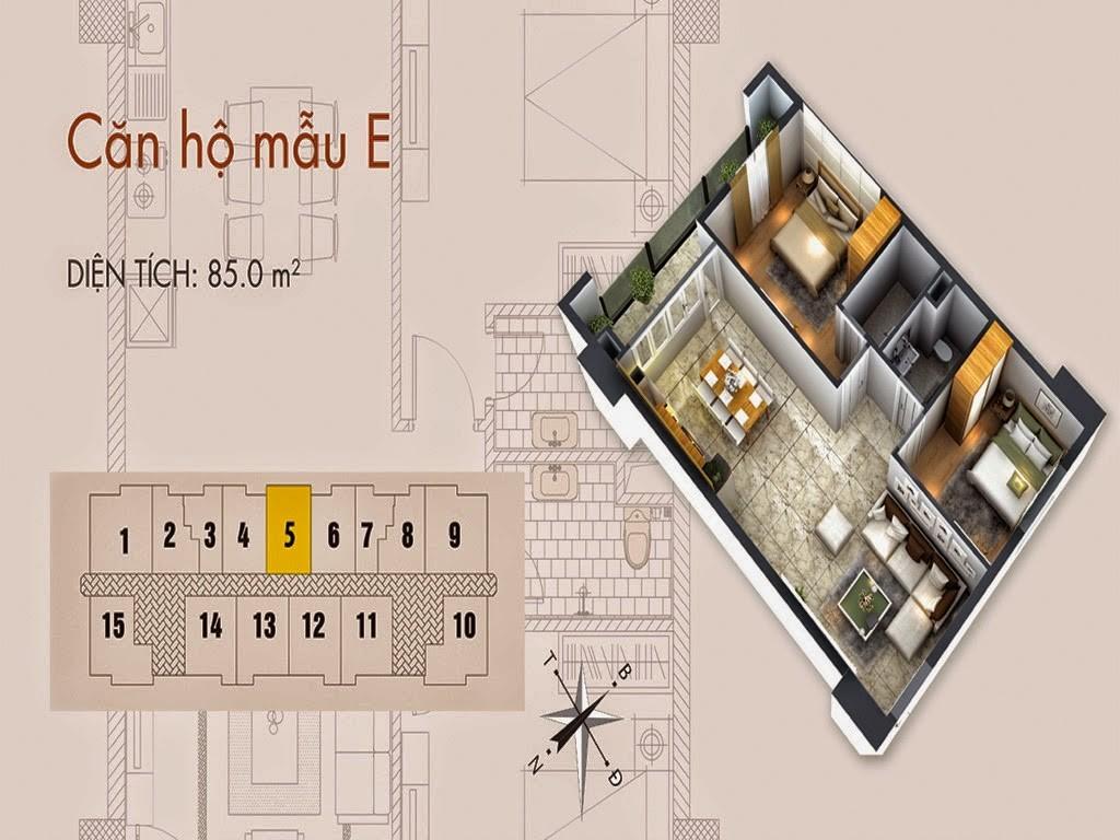 Tòa T02 căn 85m2 chung cư cho thuê C37 Bộ Công An Bắc Hà Tower