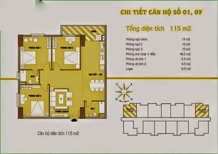 Căn hộ số 1 và 7 chung cư cho thuê C37 Bộ Công An