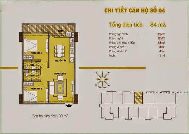 Căn hộ số 4 cho thuê chung cư C37 Bộ Công An