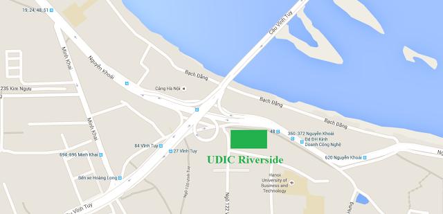Vị trí dự án chung cư Udic Riverside