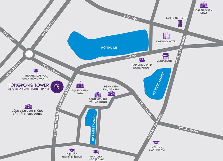 Vị trí chung cư HongKong Tower