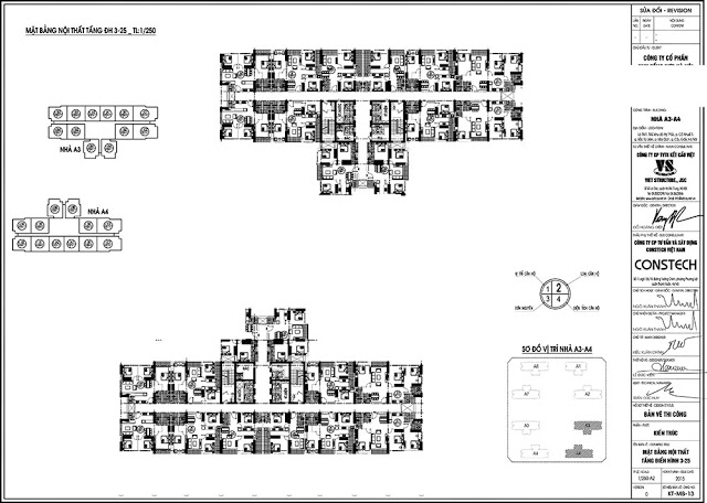 Mặt bằng tòa A3,A4 chung cư An Bình City
