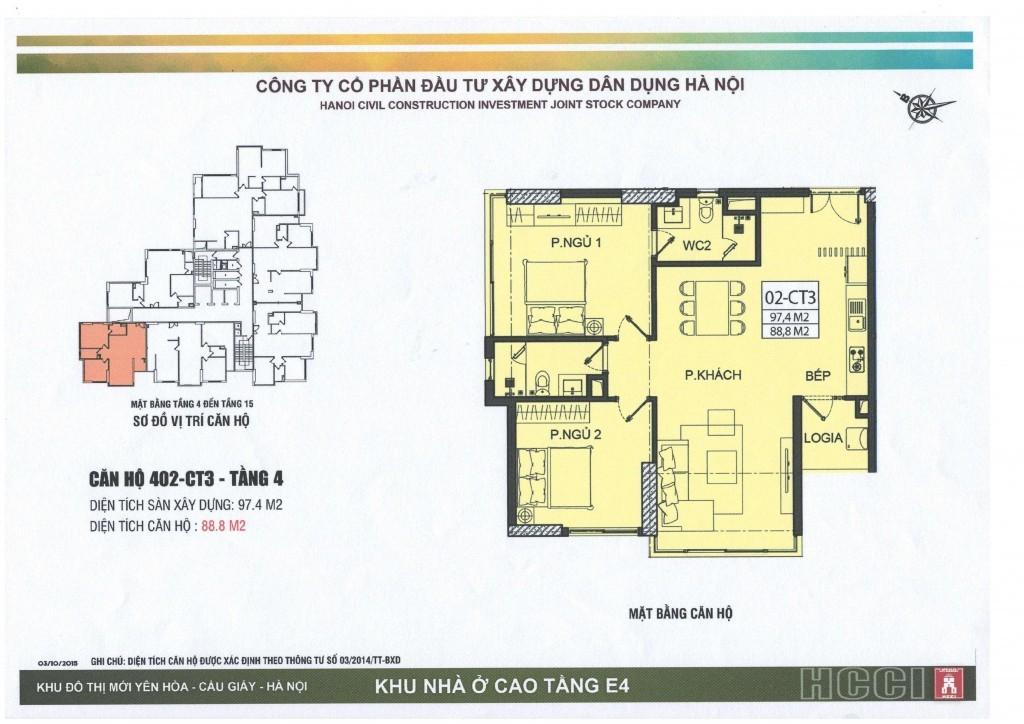 CT3 tầng 4 - 15 căn số 2