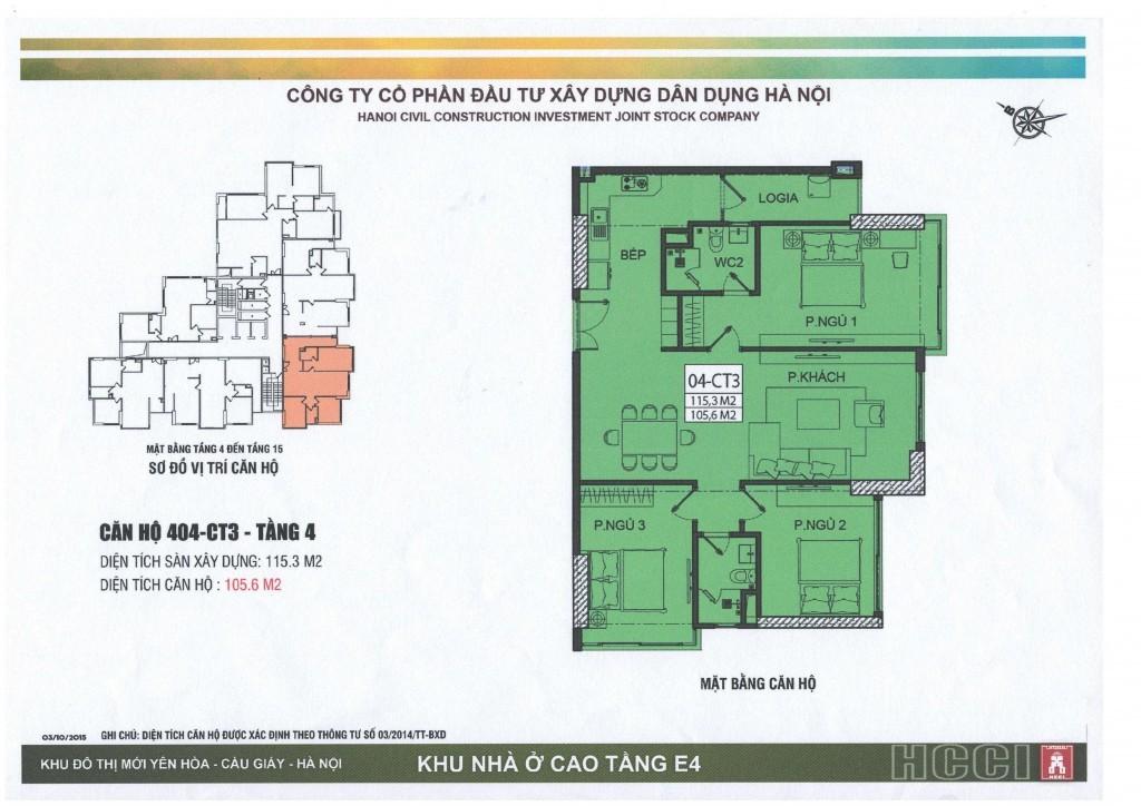 CT3 tầng 4 - 15 căn số 4