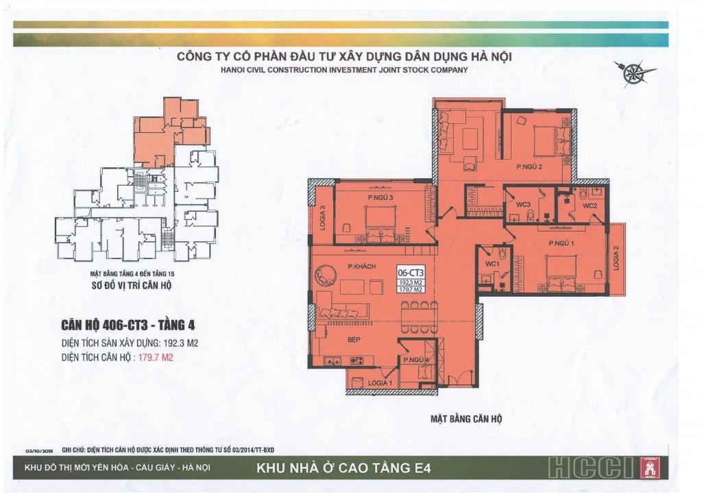 CT3 tầng 4 - 15 căn số 6