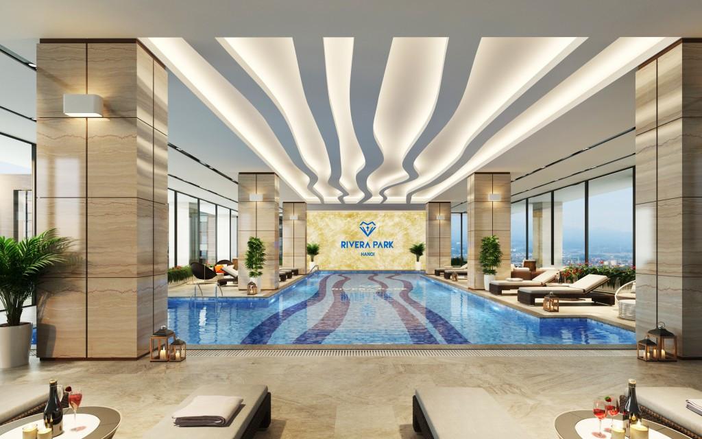 bể bơi chung cư rivera park hà nội