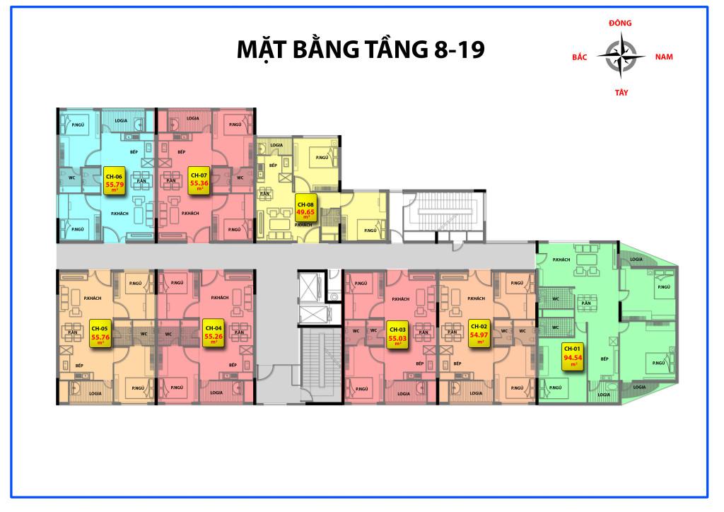 mặt bằng chung cư 536a minh khai tầng 8-19