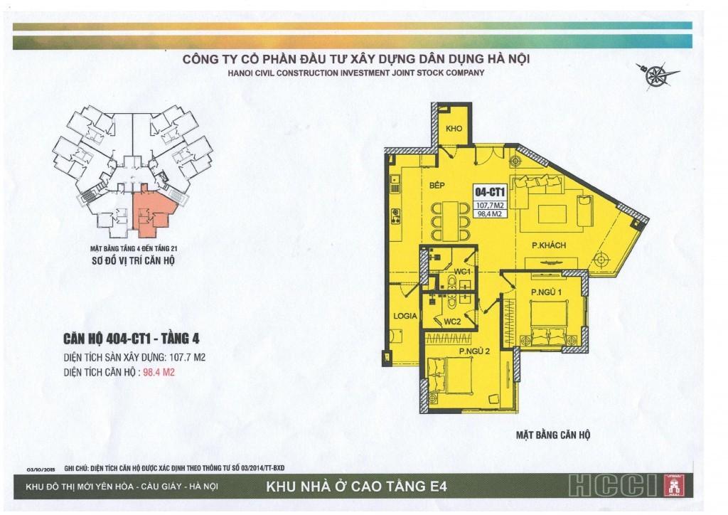CT1 tầng 4 - 21 căn số 4