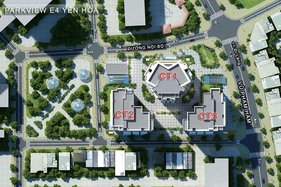 tổng thể dự án park view city - e4 yên hòa