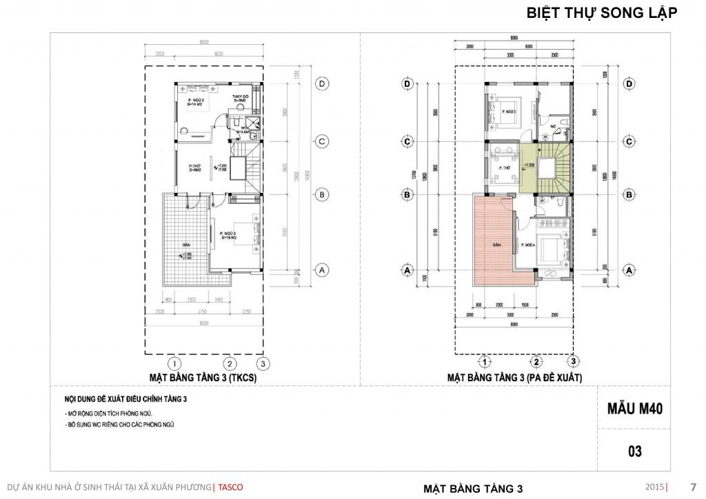 thiết kế biệt thự song lập tầng 3