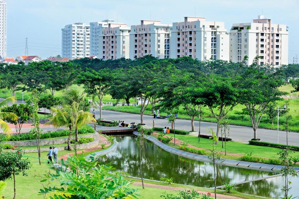 công viên cây xanh cỉa dư án mỹ đình pearl