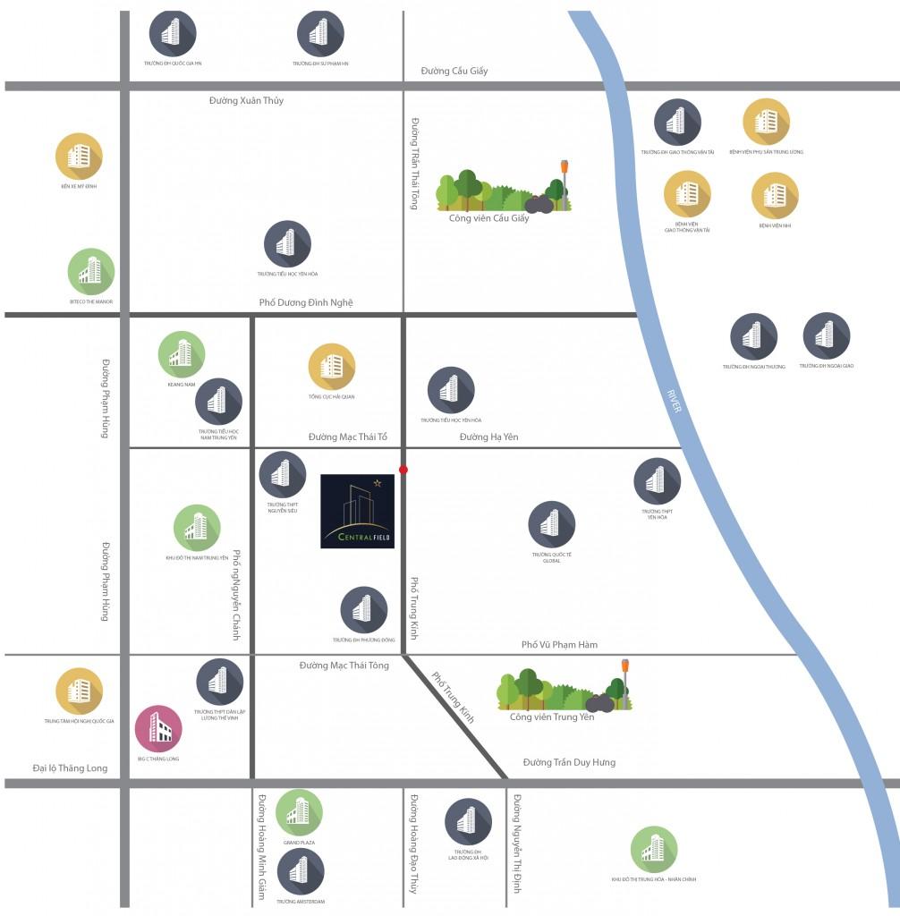 vị trí chung cư central field