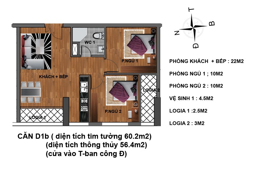 căn d1b chung cư hanhud