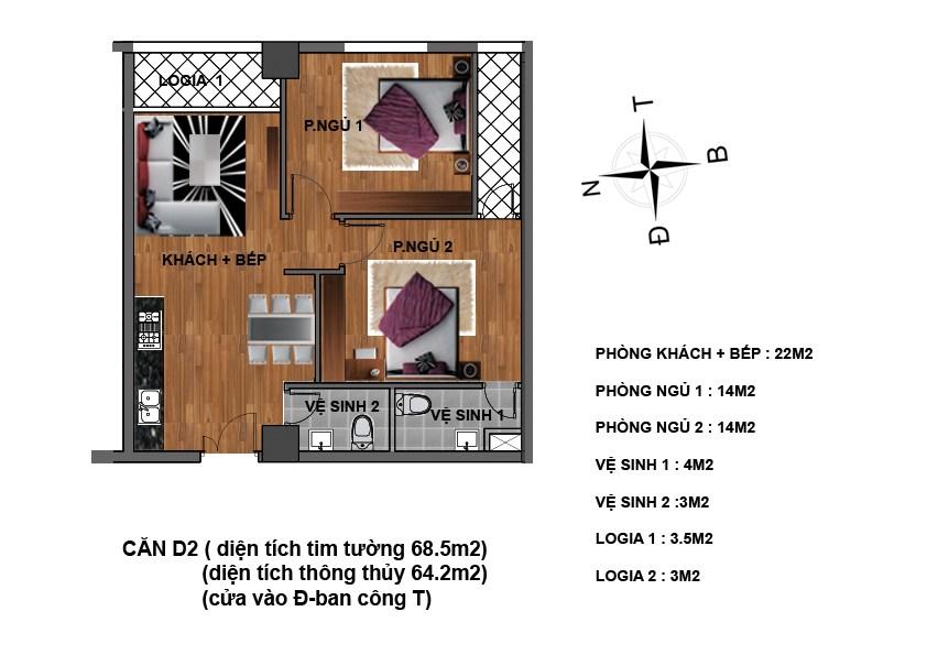 căn d2 chung cư hanhud
