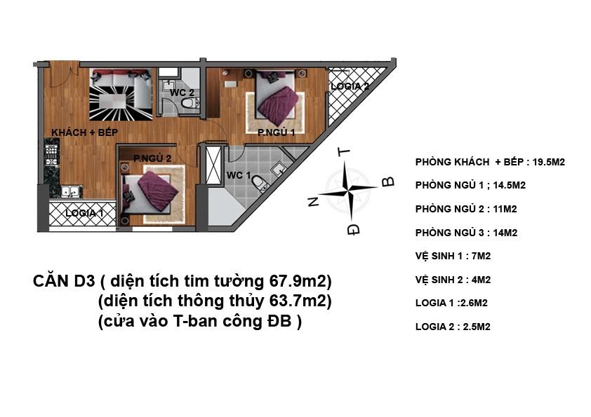 căn d3 chung cư hanhud