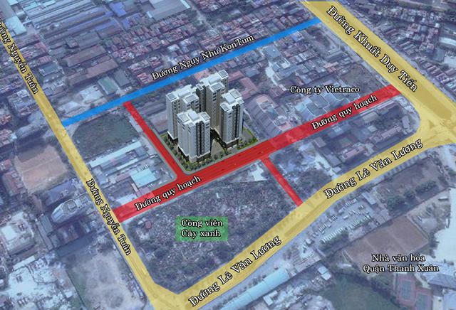 vị trí Chung cư Việt Đức Complex