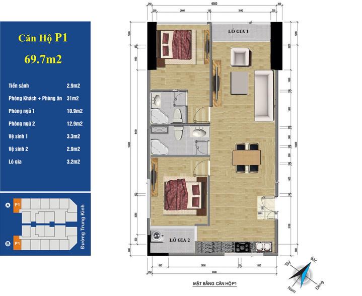 căn 01 chung cư 219 trung kính