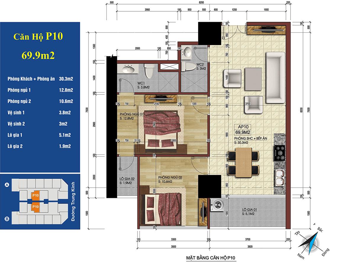 căn 10 chung cư 219 trung kính